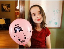 Clara wanted me to share her balloon art. #documentingchildhood