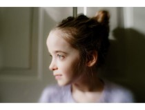 With her hair up. #lensbaby #sweet35 #documentingchildhood